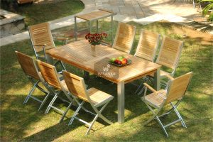 Alloy Casting Marrina Dining Set Folding
